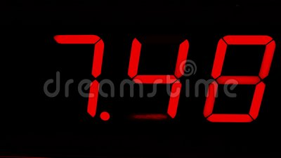 Het rode chronometer digitale tijdopnemer tellen aan vijftien stock footage