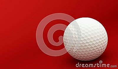 Het rood van het golf
