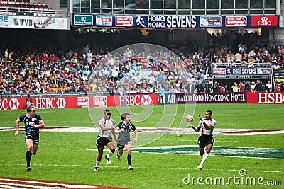 Het Rugby Sevens 2012 van Hongkong Redactionele Foto