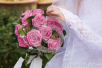 Het ruikertje van de bruid