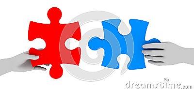 Het samenwerken aan oplossing