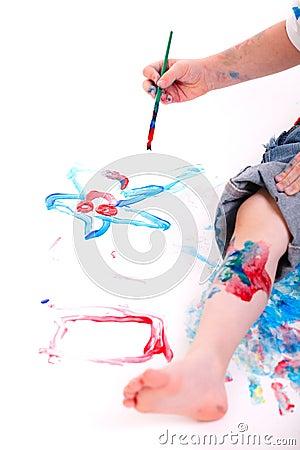 Het schilderen van de jongen royalty vrije stock fotografie afbeelding 12721707 - Schilderen kind jongen ...