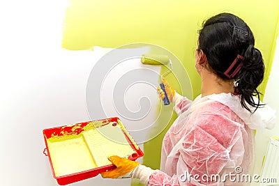 Het schilderen van het huis
