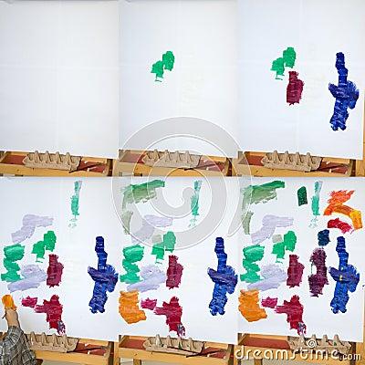 Het Schilderen van het kind
