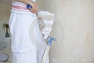 Het schilderen van het meisje flat