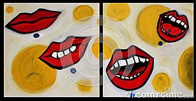Oorspronkelijk het schilderen van mijn olie op canvas 2 digitallized