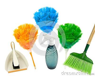 Het schoonmaken van de lente met kleuren!