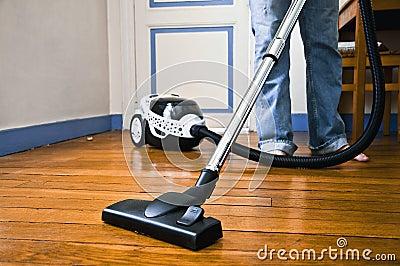Het schoonmaken van het huis