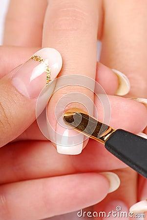 Het schouderblad van de manicure