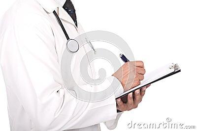 Het schrijven van de arts nota s en voorschriften