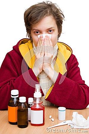 Het seizoen van de koude en van de griep