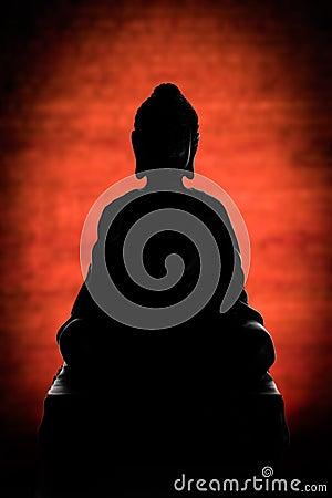 Het silhouet van Boedha