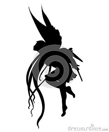 Het silhouet van de fee