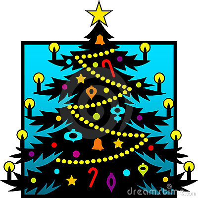 Het Silhouet van de kerstboom