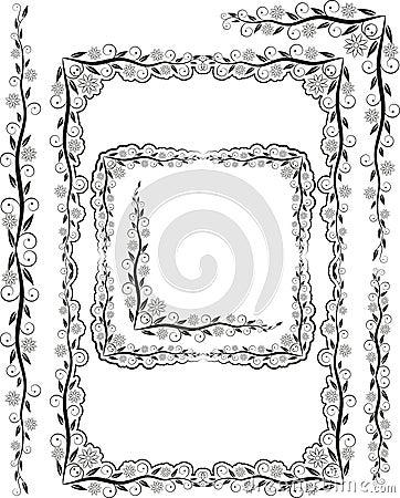 Het silhouet van frames