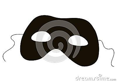 Het silhouet van het masker