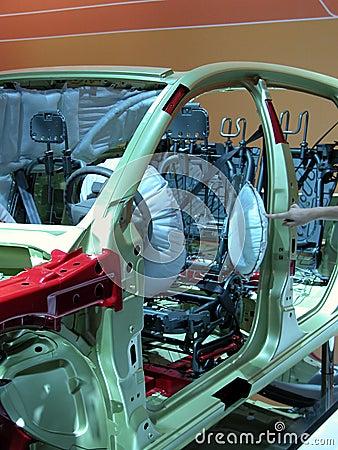 Het skelet van de auto