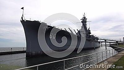 Het Slagschip ALABAMA 16 OKTOBER, 2013 van USS Alabama stock videobeelden