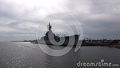 Het Slagschip ALABAMA 16 OKTOBER, 2013 van USS Alabama stock video