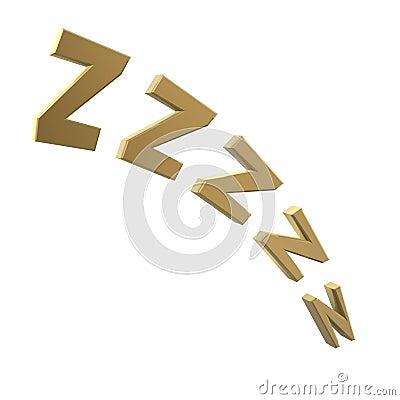 Het snurken symbool