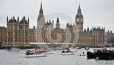 Het Spectakel van het de botenDiamanten jubileum van Dunkirk Redactionele Stock Afbeelding