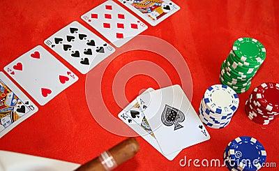 Het spel van de Pook van Texas Holdem