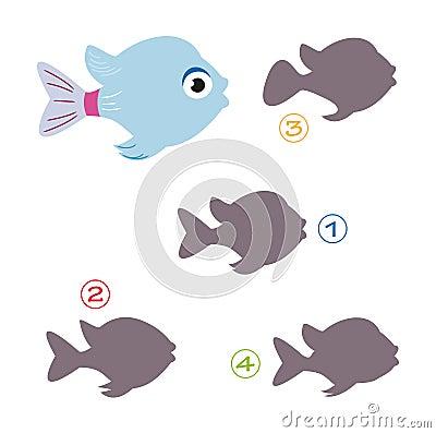 Het spel van de vorm - de vissen
