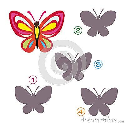 Het spel van de vorm - de vlinder