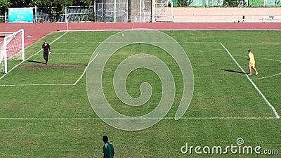 Het Spel van het voetbalvoetbal Opleiding stock footage