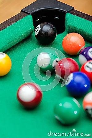 Het spelballen van de pool