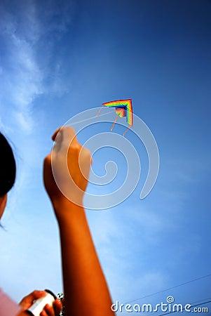 Het spelen met Vlieger
