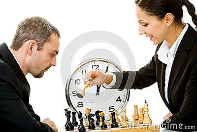 Het spelen schaak