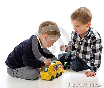 Het spelen van jongens