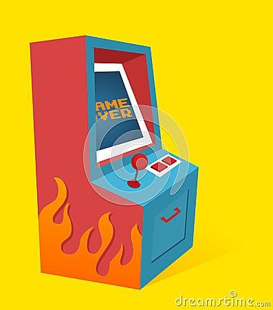 Het spelMachine van de arcade