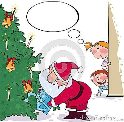 Het spioneren op Kerstman