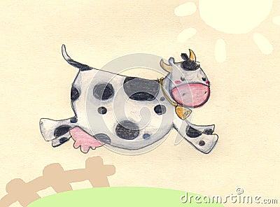Het springen koe