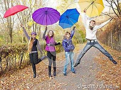 Het springen van tienerjaren