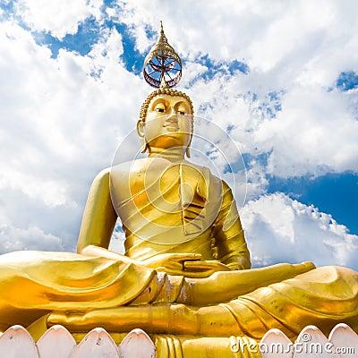 Het standbeeld van Boedha - Krabi Tiger Cave - Wat Tham Sua, Krabi, Thailand
