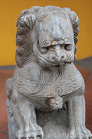 Het standbeeld van de leeuw
