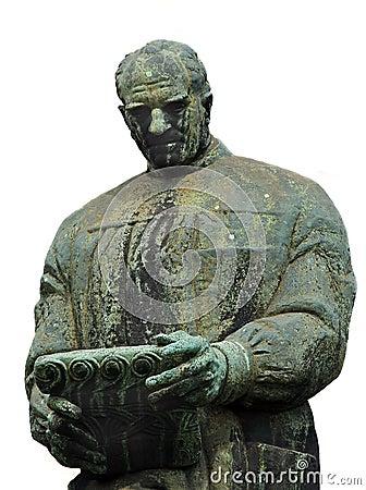 Het standbeeld van trekt Frano Bulic aan