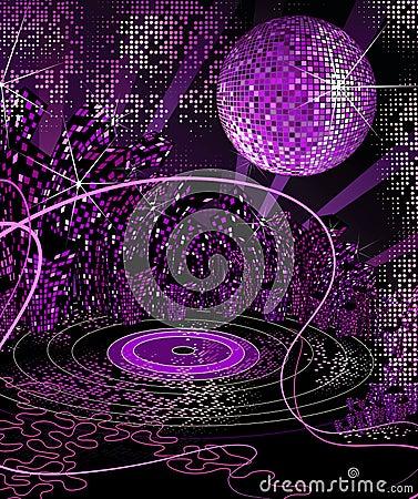 Het stedelijke leven van de disconacht