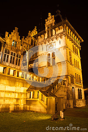 Het Steen - The Stone - in Antwerp at night