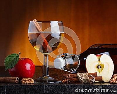 Het stilleven van de cider