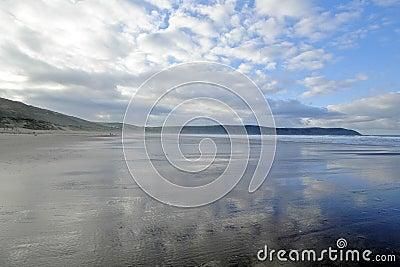 Het Strand het UK van Woolacombe