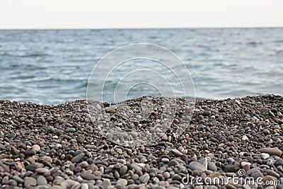 Het strand van de kiezelsteen
