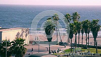 Het Strand van Venetië stock video