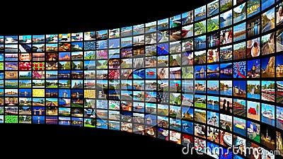 Het stromen media concept
