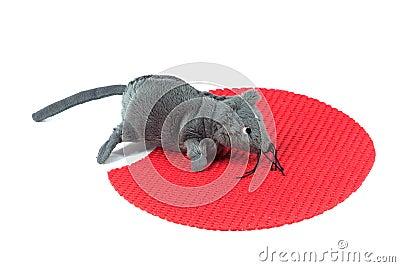 Het stuk speelgoed van de muis