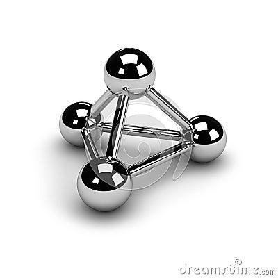 Het symbool van de aansluting (chroom)
