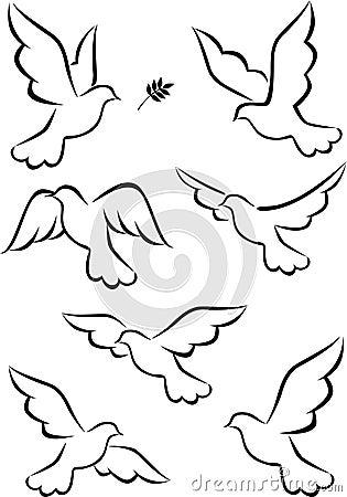 Het symbool van de duif